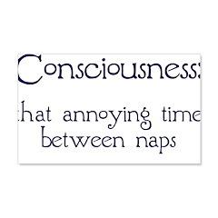 Consciousness Naps 22x14 Wall Peel