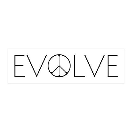 Evolve Peace Narrow 36x11 Wall Decal