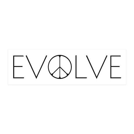 Evolve Peace Narrow 20x6 Wall Decal