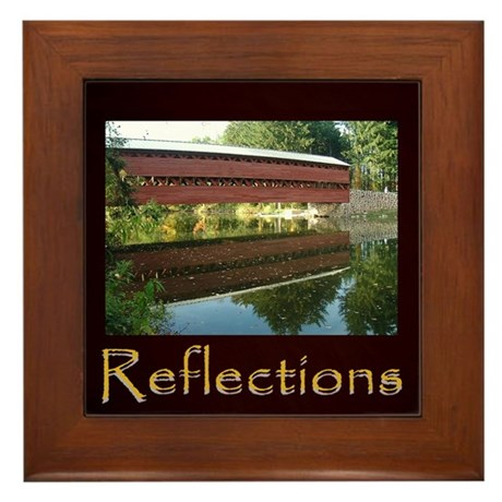 Gettysburg Sachs Covered Bridge Framed Tile