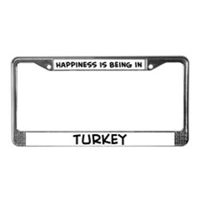 Happiness is Turkey License Plate Frame
