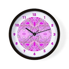 <b>BUTTERFLY SERIES:</b> Pink Butterflies W. Clock