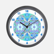 <b>BUTTERFLY SERIES:</b> Blue Butterflies W. Clock