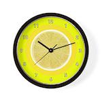FRUIT & VEGGIE SERIES:  Lemon Wall Clock