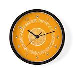 FRUIT & VEGGIE SERIES:  Orange Wall Clock