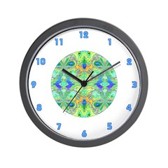 <b>BUTTERFLY SERIES:</b> Blue-Green Wall Clock