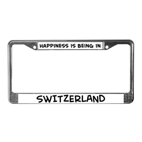 Happiness is Switzerland License Plate Frame