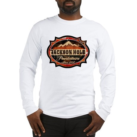 Jackson Hole Powdertown Rust Long Sleeve T-Shirt