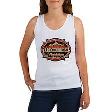 Jackson Hole Powdertown Rust Women's Tank Top