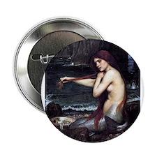 """A Mermaid 2.25"""" Button"""