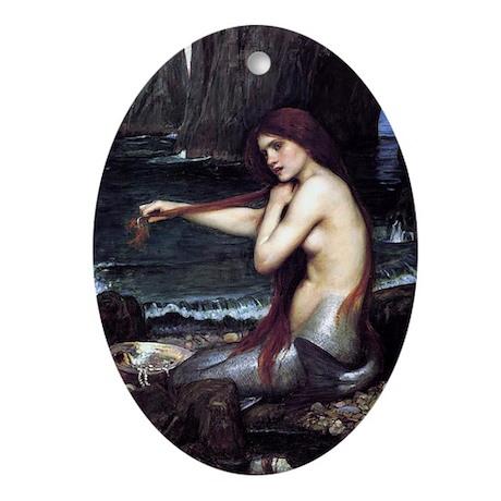 A Mermaid Ornament (Oval)