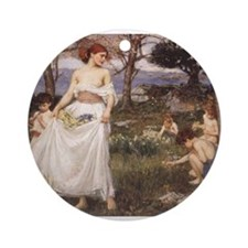 A Song of Springtime Ornament (Round)