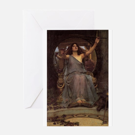Circe Offering the Cup to Ody Greeting Card