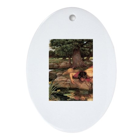 Echo and Narcissus Ornament (Oval)