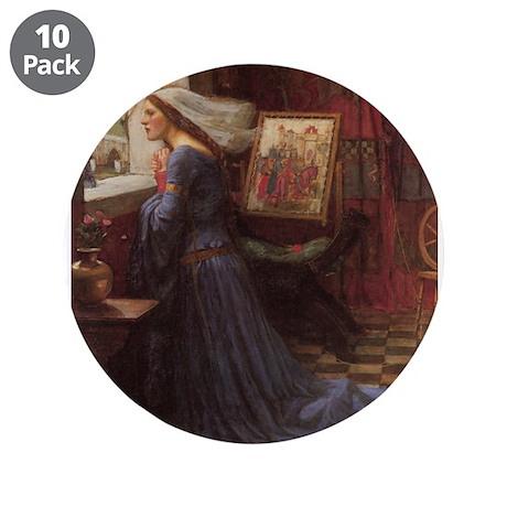 """Fair Rosamund 3.5"""" Button (10 pack)"""