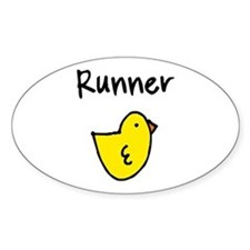 Runner Chick Stickers