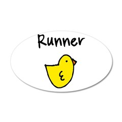 Runner Chick 22x14 Oval Wall Peel