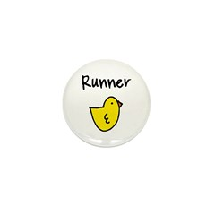Runner Chick Mini Button (10 pack)