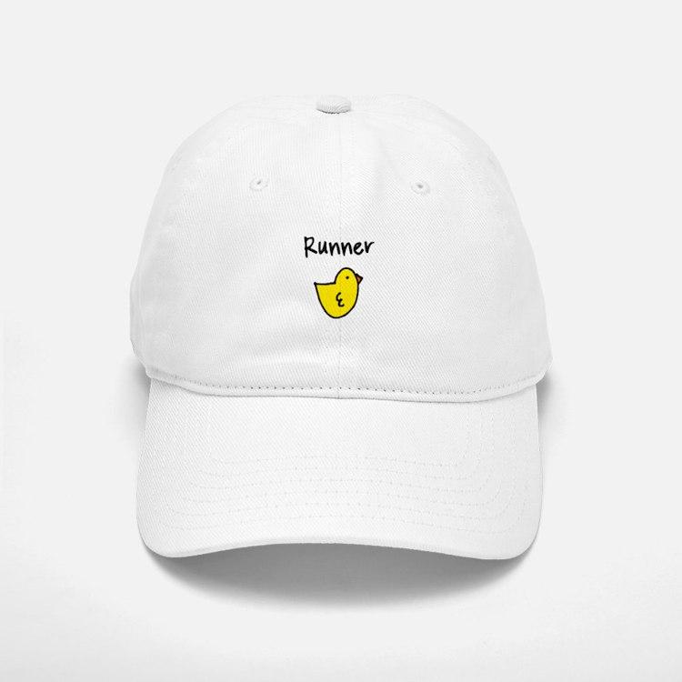 Runner Chick Baseball Baseball Cap