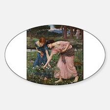 Gather Ye Rosebuds While Ye M Sticker (Oval)
