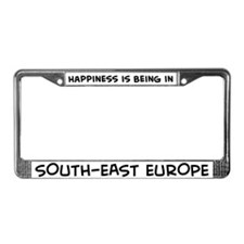 Happiness is South-East Europ License Plate Frame