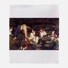 Hylas and the Nymphs Throw Blanket