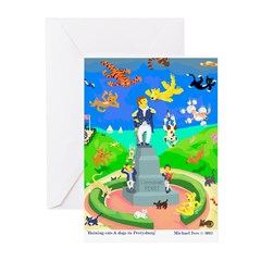 Raining Cats & Dogs in Perrysburg Greeting Cards (