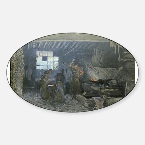 Cute Forging Sticker (Oval)
