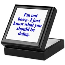 Not Bossy Keepsake Box