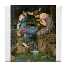 Nymphs Finding the Head of Or Tile Coaster