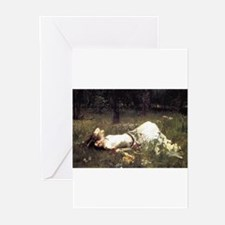 Ophelia Lying in the Meadow Greeting Cards (Pk of