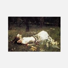 Ophelia Lying in the Meadow Rectangle Magnet