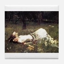 Ophelia Lying in the Meadow Tile Coaster
