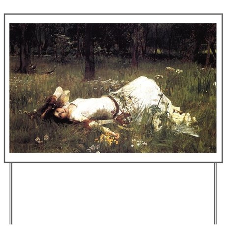 Ophelia Lying in the Meadow Yard Sign