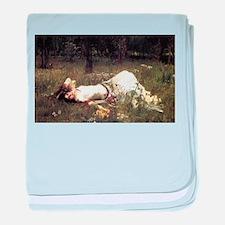 Ophelia Lying in the Meadow baby blanket