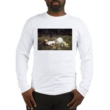 Ophelia Lying in the Meadow Long Sleeve T-Shirt