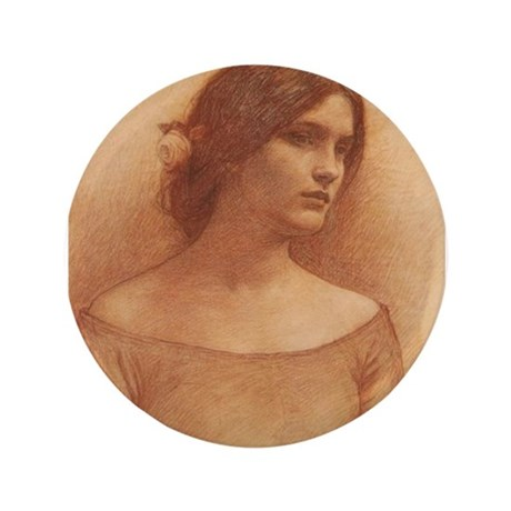 """Study for the Lady Claire 3.5"""" Button"""