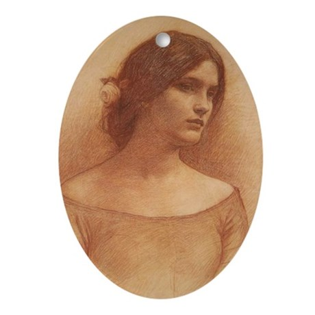 Study for the Lady Claire Ornament (Oval)