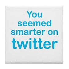 Smarter on Twitter Tile Coaster