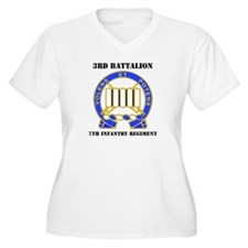 DUI - 3rd Bn - 7th Infantry Regt with Text T-Shirt