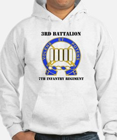 DUI - 3rd Bn - 7th Infantry Regt with Text Hoodie