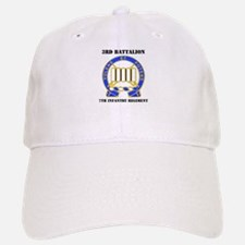DUI - 3rd Bn - 7th Infantry Regt with Text Baseball Baseball Cap
