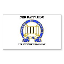 DUI - 3rd Bn - 7th Infantry Regt with Text Decal
