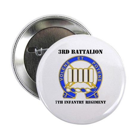 "DUI - 3rd Bn - 7th Infantry Regt with Text 2.25"" B"