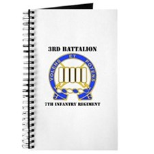 DUI - 3rd Bn - 7th Infantry Regt with Text Journal