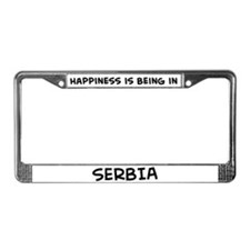Happiness is Serbia License Plate Frame