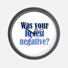 Negative IQ Test Wall Clock