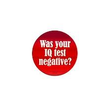 Negative IQ Test Mini Button