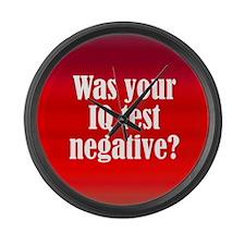 Negative IQ Test Large Wall Clock