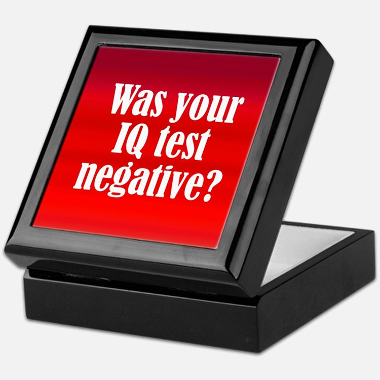 Negative IQ Test Keepsake Box